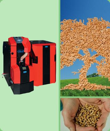 renewable energy pellet boiler